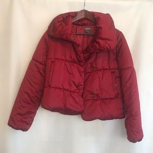 Kenneth Cole Reaction red burgundy jacket A242